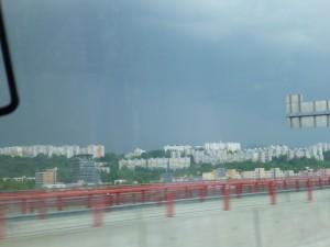 Concrete buildings Bratislava